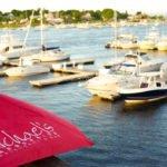 Umbrella, Logo, Boats, Harborside