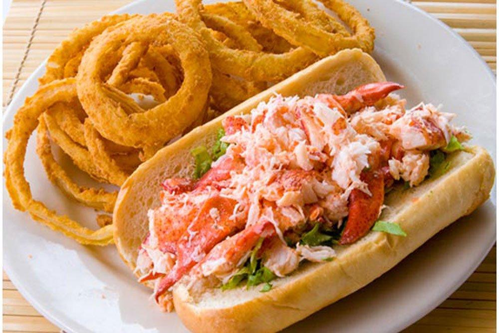 Lobster Roll, Onion Rings, Restaurant, Food, New England